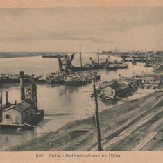 BRAILA, BADEINSTALATIONEN IM HAFEN (INSTALATII DE APA IN PORT) - Carte Postala Muntenia 1904-1918, Circulata, Printata