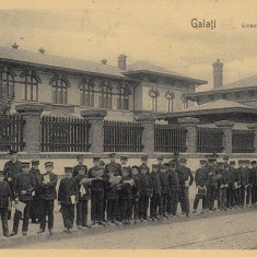 GALATI LICEUL ''V. ALEXANDRI'' TCV CIRCULATA 1910 - Carte Postala Moldova 1904-1918, Tip: Printata