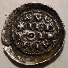 G.289 ITALIA MILANO ENRICO II DENAR 1004 1024 ARGINT 0, 99g/18mm - Moneda Medievala, Europa