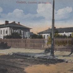 GALATI, CAZARMA DE VANATORI - Carte Postala Moldova dupa 1918, Necirculata, Printata