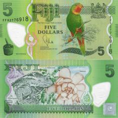 FIJI 5 dollars 2012-2013 polymer UNC!!!