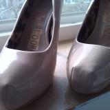 NEXT_pantofi nude cu toc platforme marime 39