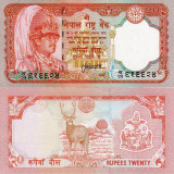 NEPAL 20 rupees ND (1982-87) UNC!!! - bancnota asia, An: 1987