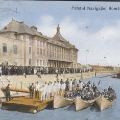 GALATI, PALATUL NAVIGATIEI ROMANE - Carte Postala Moldova 1904-1918, Stare: Circulata, Tip: Printata