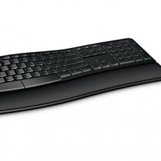 Kit Tastatura + Mouse Microsoft Sculpt Comfort Desktop, USB, negru, L3V-00021, Fara fir