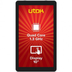 UTOK Tableta UTOK 1050Q, LCD 10.1 inch, CPU Quad-Core 1.3 GHz, 1GB RAM, 8GB Flash, Wi-Fi, Android 5.1, Black