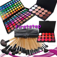 Trusa machiaj Mac Cosmetics MAC farduri 120 culori + 24 pensule make up + fond de ten + ruj