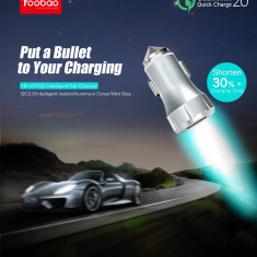 Incarcator auto Quick Charge 2.0 YB-207QC 2.4A by Yoobao