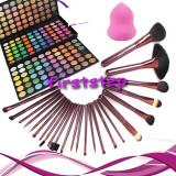 Trusa machiaj MAC farduri 180 culori + 24 pensule megaga par natural + cadou, Mac Cosmetics