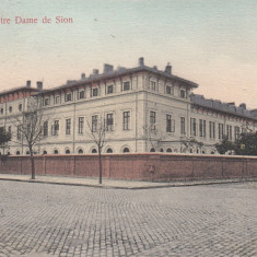 GALATI, INSTITUTUL NOTRE DAME DE SION, CIRCULATA OCT. ''907 - Carte Postala Moldova 1904-1918, Tip: Printata