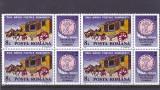 Romania ,Ziua marcii postale  91   bloc de 4 ,nr lista 1271.