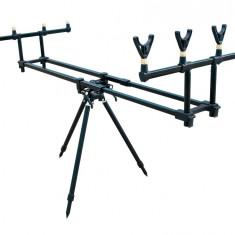 Rod Pod Baracuda #5 Pentru 4 Lansete cu 3 Picioare + Geanta Transport, 4 posturi