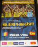 Program Meci Fotbal  Romania - Spania 27.03.2016 Cluj-Napoca