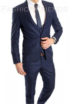 Costum tip ZARA - sacou + pantaloni - vesta costum barbati casual office  - 6153 foto
