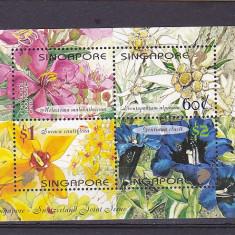 Flora serie comuna cu Elvetia, Singapore . - Timbre straine, Nestampilat