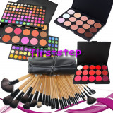 Trusa machiaj MAC farduri 183 culori + 24 pensule make up + fond de ten + ruj