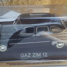 Macheta metal DeAgostini Gaz ZIM 12 NOUA+revista Masini de Legenda nr.42, 1/43 - Macheta auto
