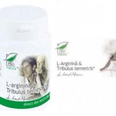 L-arginina si Tribulus Terrestris, 60 capsule, Medica- Pro Natura- 100% natural - Tratamente