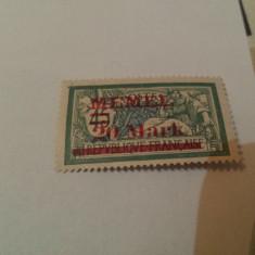 Germania/memel 1921 blazoane / 1 v. MH/ 20M/45C/ 16 euro, Nestampilat