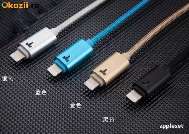Cablu 8 Pin Lightning USB iPhone 5 5C 5S 6 6 Plus iPad YB-408 by Yoobao Silver