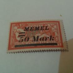 Germania/memel 1922 blazoane/ 1v. MH/ 50M/2 FR/ 20 euro, Nestampilat