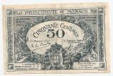 MONACO 50 CENTIMES 1920 VF