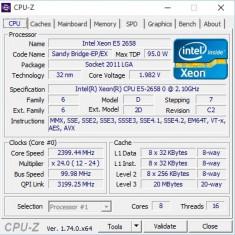 Xeon E5-2658 LGA 2011, 16 threads, 2.4GHz max turbo, 20MB cache - Procesor server, Intel, Intel Core i7, 2000-2500 Mhz, LGA 2011/ R