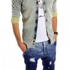 Camasa de blugi fashion - camasa barbati - CALITATE GARANTATA cod: 6157, Marime: XL, Culoare: Din imagine, Maneca lunga
