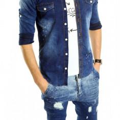 Camasa de blugi tip ZARA fashion - camasa barbati - CALITATE GARANTATA cod: 6156, Marime: XL, XXL, Culoare: Din imagine, Maneca lunga