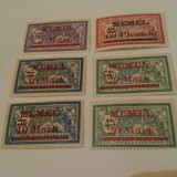 Germania/memel 1921 blazoane/ serie MH supratipar/ cota ridicata, Nestampilat