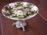FRUCTIERA VECHE BRONZ  PORTELAN deosebita, Decorative