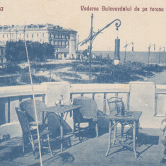 CONSTANTA , VEDEREA BULEVARDULUI DE PE TERASA CAZINOULUI, Necirculata, Printata