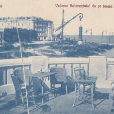 CONSTANTA, VEDEREA BULEVARDULUI DE PE TERASA CAZINOULUI - Carte Postala Dobrogea 1904-1918, Necirculata, Printata