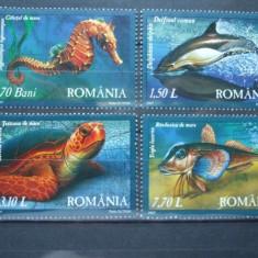 ROMANIA 2007 – FAUNA DIN MAREA NEAGRA, serie nestampilata AF8