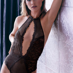 Victoria's Secret body teddy marime M victoria victorias - Lenjerie sexy dama Victoria's Secret, Culoare: Negru, Marime: M