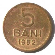 G5. ROMANIA RPR 5 BANI 1952, 2.4 g, Cu-Ni-Zn, 20 mm ** - Moneda Romania