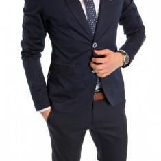 Sacou tip Zara Man bleumarin casual - sacou barbati - sacou bumbac  cod 6155