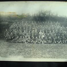 Fotografie militara germana cu ofiteri si soldati din perioada WW1. - Fotografie veche