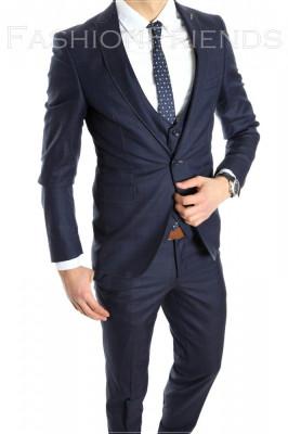 Costum tip ZARA - sacou + pantaloni - vesta costum barbati casual office  - 6152 foto