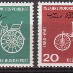 GERMANIA 1961, Transport - Automobile, serie neuzata, MNH - Timbre straine, Nestampilat