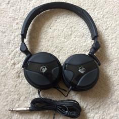 Casti AKG K518DJ originale, Casti On Ear, Cu fir, Mufa 3, 5mm