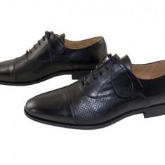 Pantofi barbati eleganti piele naturala Denis-1289 n2, Marime: 40, 41, 42, 43, 44, 45, Culoare: Negru