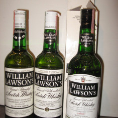 3 sticle whisky  william lawson's  cl 70 gr 40 ani 70-80