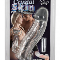 Prelungitor Penis Vibrator Crystal Skin