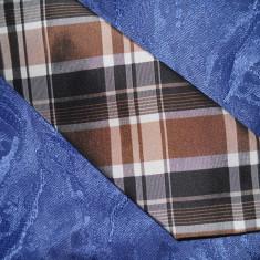 ESPRIT COLLECTION, cravata matase naturala, Culoare: Maro, Geometric