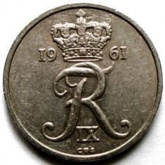 DANEMARCA, 10 ORE 1961, Europa, Crom