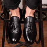 Pantofi barbatesti Oxford Fashion.Cod POS1 - Pantof barbat, Marime: 42, Culoare: Maro, Negru, Piele sintetica