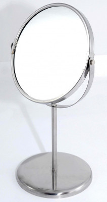 Oglinda de toaleta cu picior - una din fete mareste de 2,5 ori - Noua foto