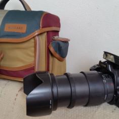 Canon EOS Rebel S + obiectiv Tamron AF Aspherical 28-200mm F/3.8-5.6