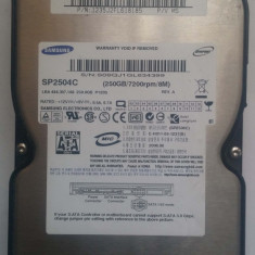 TESTAT HDD Hard Disk 3.5inch 250GB SATA 7200RPM 8M Samsung SP2504C, 200-499 GB, 8 MB